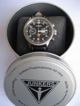 Junkers Chronograph,  Veredeltes Handaufzugswerk,  Mit Box Und Papiere Bild