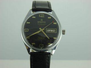 Atlantic Vintage Herren - Armbanduhr Worldmaster Gents 38mm 1970 Jahre Rar Bild