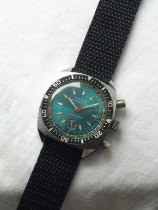 Sehr Seltene Alter Chronograph Ruhla 70er Jahre Bild
