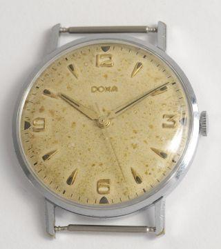 Doxa Antike Klassische Schweizer Armbanduhr Swiss Made Vintage Dress Watch 1959 Bild