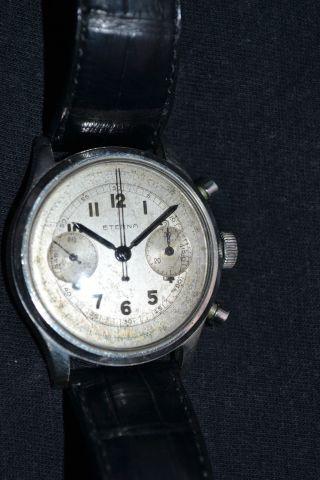 Grosser Eterna Stahlchronograph Ca.  1950 Bild