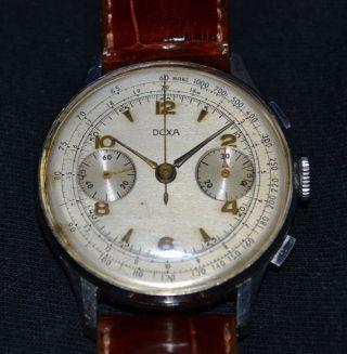 Grosser Doxa Chronograph Circa Von 1955 Bild