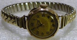 Golduhr Armbanduhr Afra Watch (af) Uhr Damenuhr 585 Gelb Gold Swiss Made Bild