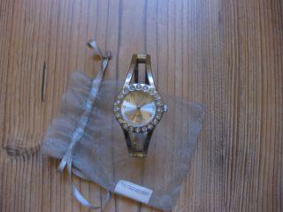 Damen / Frauen Spangenuhr - Quartz - Uhr,  Steinchen - Silber - Dist.  Bylpar: Lbvyr Bild