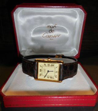 Must De Cartier Tank - Damenuhr Mit - Faltschließe,  Zertifikat,  Ovp Bild