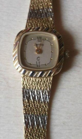 Edle Zentra Armbanduhr,  Damen,  Goldfarben,  Quarz,  Mit Seriennummer Bild