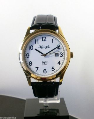 Kienzle Herrenuhr Leder Armband Saphirglas 5 Barw.  R. Bild
