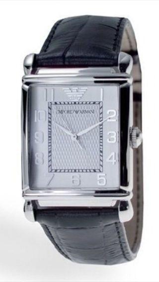 Armani Uhr Classic Lederband Ar0433 Schwarz Bild
