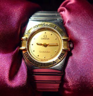 Damen Omega Constellation 18 Karat Gold 2 Jahre Bild