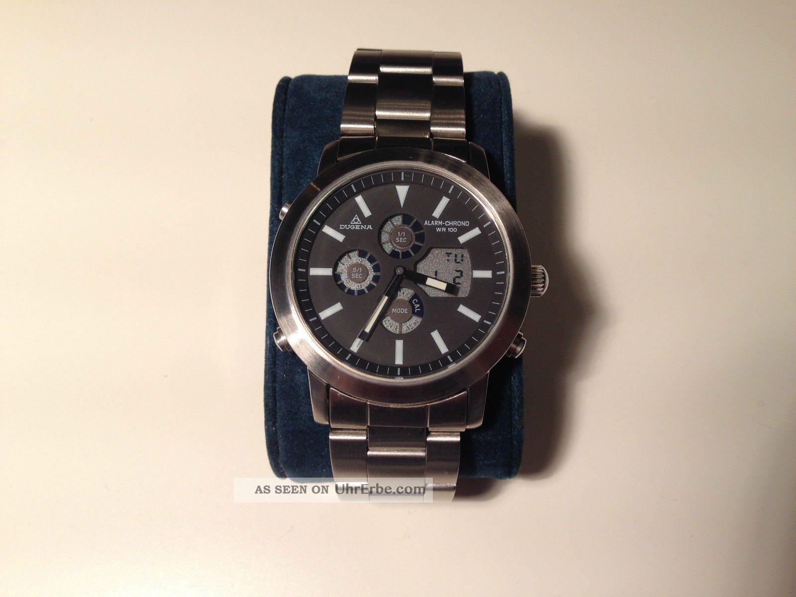 Dugena Alarm Chronograph Herren Armband Uhr,  Ungetragen,  Cal ;cr50 Armbanduhren Bild