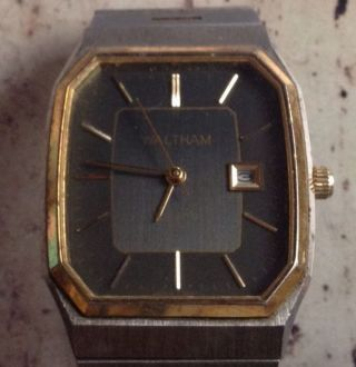 Vintage Waltham Quarz Swiss Armband Uhr Look Bild