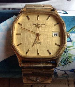 Vintage Wittnauer Quarz Swiss Armband Uhr Look Bild