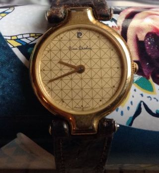 Vintage Pierre Cardin Quarz Swiss Armband Uhr Look Bild
