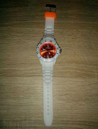 Viper Silikonuhr Silikon Uhr Watch Silikonband Sport Quarz Armbanduhr Orange Bild