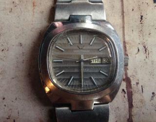 Vintage Herren Waltham Quarz Swiss Armband Uhr Look Bild