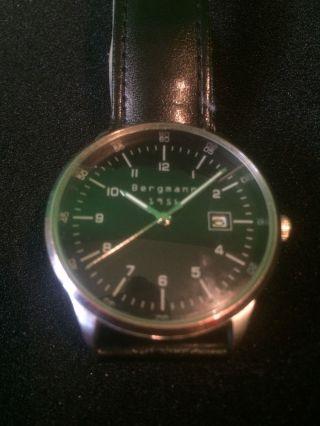 Bergmann 1956 Armbanduhr Bauhausstil Läuft Bild