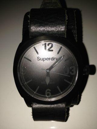 Superdry Harness Herren Armbanduhr Syg101bb Schwarz Bild