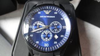 Emporio Armani Uhr Ar5921 Chronograph Blau Schwarz Bild