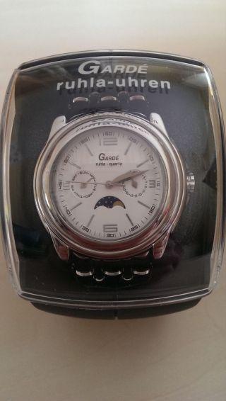 Noch Unbebutzt Mondphase 45432 Edelstahl Uhr Von Gardé Ruhla Bild