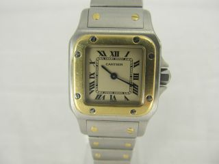 Cartier Santos Damenuhr Quarz Stahl/gold Ref: 20159,  Top Bild