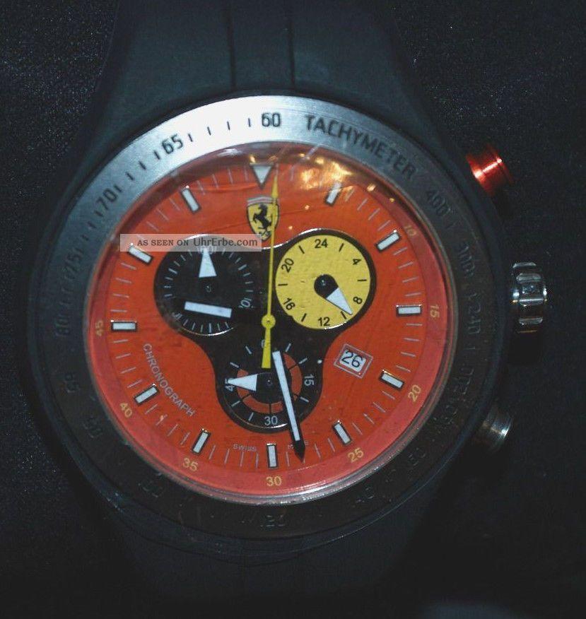 Ferrari Chrono Herren Uhr F1 Jumbo Chronograph Titanium Armbanduhren Bild