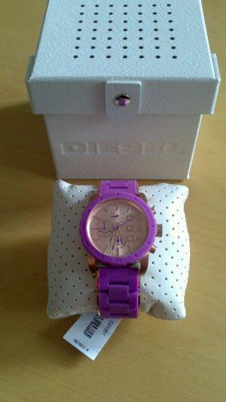 Diesel Dz5361 Armbanduhr Für Damen Rosegold Gold Lila Bild