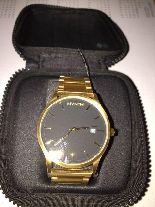 Mvmt Armbanduhr Gold/schwarz Bild