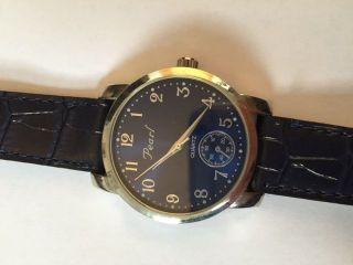 Herrenuhr Uhr Blau Kunstleder Elegant