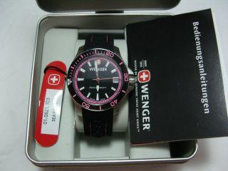 Wenger Sea Force Damenuhr Pink Silikonband 1.  0621.  103 Wie Bild