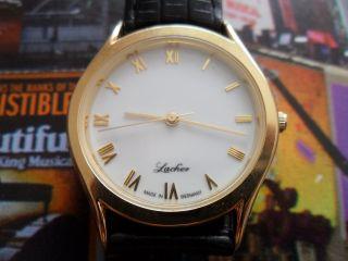 Lacher Premium Quarz Armbanduhr Rar Selten Uhr Bild