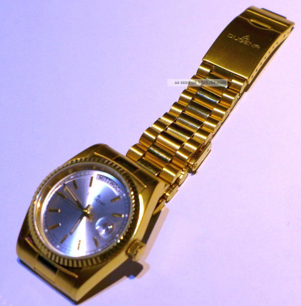 Damenuhr Dugena 4460412 Mit Datumslupe Armbanduhren Bild