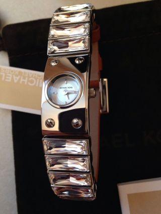 Michael Kors Mk2238 Damenuhr Strass - Steine Leder Np 199€ Luxus Bild