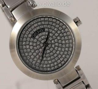 Dkny Donna Karan Ny Damenuhr / Damen Uhr Silber Strass N8891 Bild