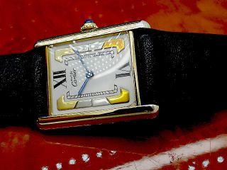 Luxus Pur Must De Cartier Tank Paris Unisex Armbanduhr Bild