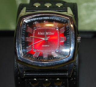 Armbanduhr Alain Miller - Rotes Ziffernblatt - Bild