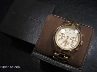 Michael Kors Uhr Damenuhr Mk Uhr Mk5055 Goldfarbig Bild
