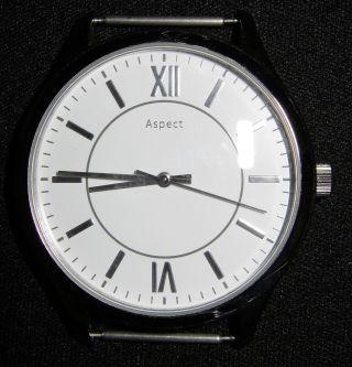 Neue Feine Silberne Herren Armbanduhr