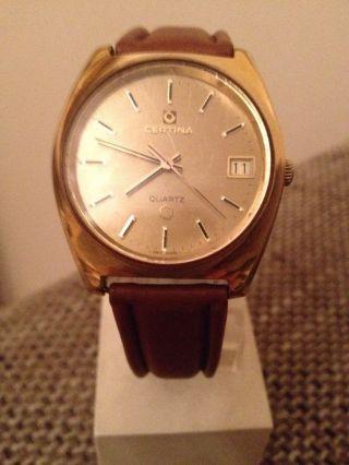 Certina Quartz Uhr Herrenuhr Aus Sammlung Konvolut Vintage 20 Mic Vergoldet Bild
