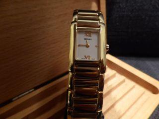 Delma Gold Swiss Made Damenarmbanduhr Ungetragen Bild