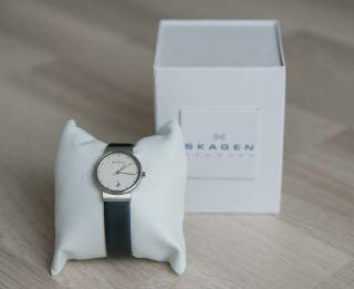 Skagen Damen - Armbanduhr 355 Sslw Analog Quarz Edelstahl Bild