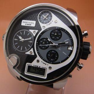 Diesel Sba Big Daddy Dz7125 Chronograph 4zeitzone Chronograph Stoppuhr Quarz Uhr Bild