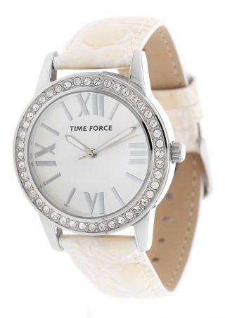 Time Force Damen Armbanduhr Belamy Weiß Tf4087l11 Bild