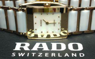 Rado Diastar Integral 153.  0283.  3n Mit Box Ceramic Perlmutt Gold Weiß Keramik Bild