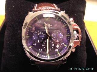 Marina Militare Stiehl Herren Armband Uhr Cronogarph Sehr Edel Und Bild