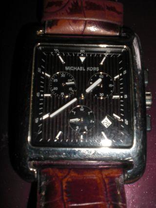 Michael Kors Herren Chronograph Mit Lederarmband Stylisch & Top Bild