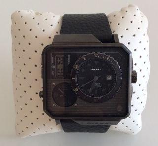 Diesel Dz7241 Herren Uhr Leder Schwarz Np: 279€ Bild