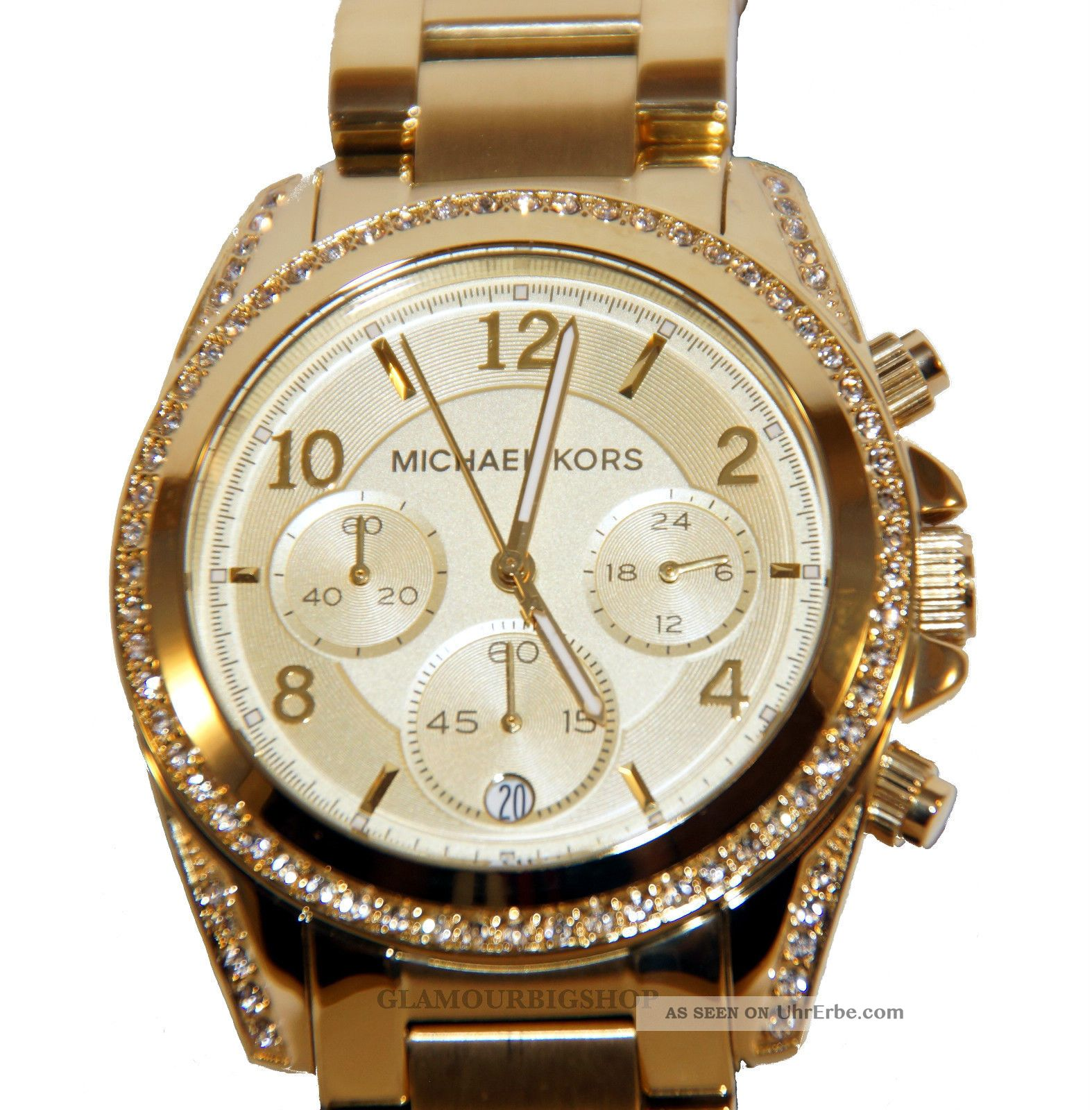 neu michael kors goldene uhr mit steinen schmuck website. Black Bedroom Furniture Sets. Home Design Ideas