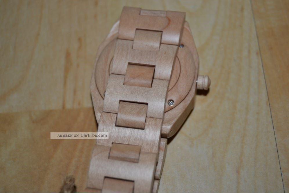 bewell holz armbanduhr holzuhr ahornholz ahorn unikat echtholz holzarmbanduhr. Black Bedroom Furniture Sets. Home Design Ideas