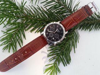 Madison York Chronograph 3 Bar Uhr Braun Bild