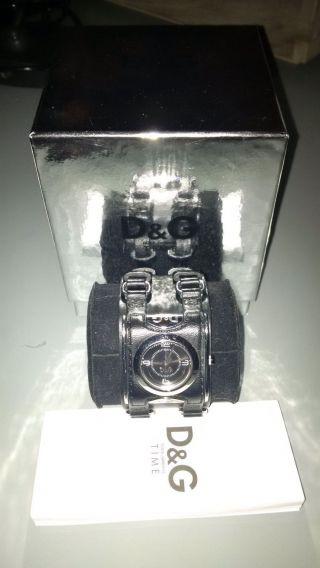 Dolce & Gabbana D&g Time Damen Armbanduhr Lederarmband Ref.  Dw0098 3xgetragen Bild